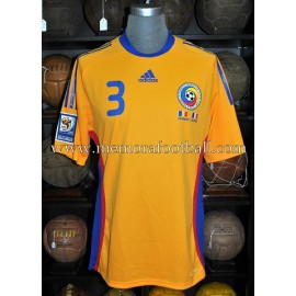 """RAZVAN RAT"" Romania vs Italy 11-10-2008 match worn shirt"