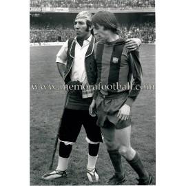 """""""JOHAN CRUYFF"""" FC Barcelona 1970s large photo"""