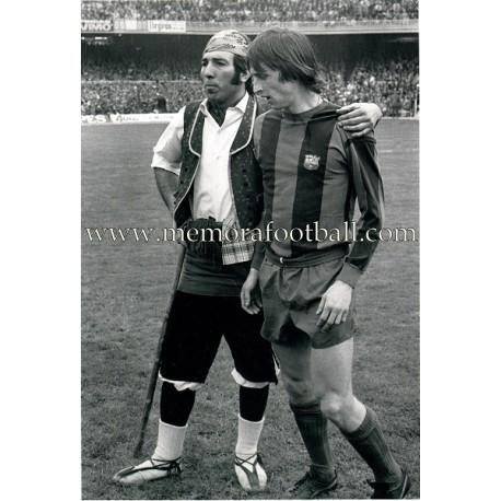 """JOHAN CRUYFF"" FC Barcelona 1970s fotografía de gran tamaño"