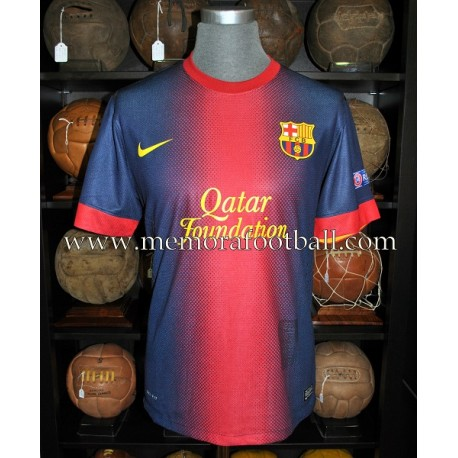 """CESC FÁBREGAS"" FC Barcelona Champions League 2012-2013 signed match worn shirt"