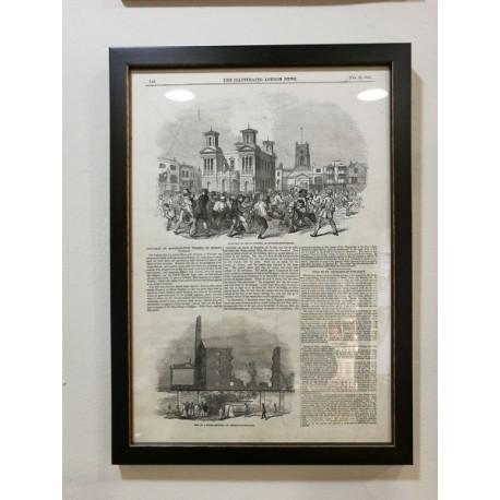 Página enmarcada del Illustrated London News 28 Febrero 1846