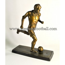 A spelter figure of a footballer 1955 Germany