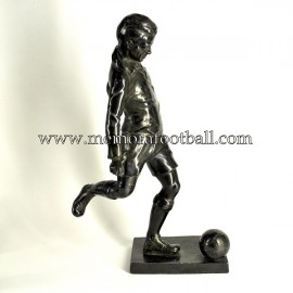 A spelter figure of a footballer 1920-30 United Kingdom