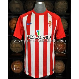 """ALEX BERGANTIÑOS"" Sporting de Gijón 13-01-2018 vs Sporting de Gijón match worn shirt"