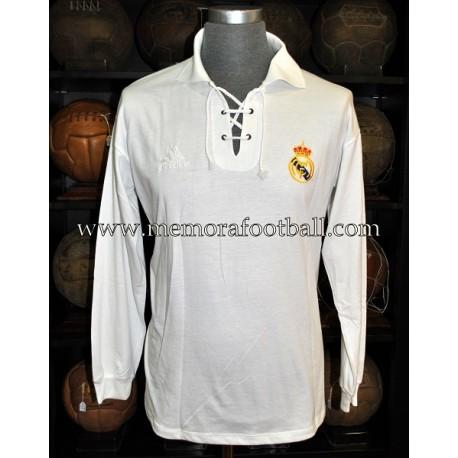 """Camiseta del Real Madrid CF """"Veteranos"""" 2002 Centenario usada en partido"""