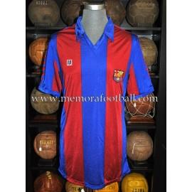"""Enrique Castro """"QUINI"""" FC Barcelona 1980-81 match worn shirt"""