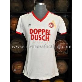 """Dieter Prestin"" FC Köln UEFA Cup 1985-86 match worn shirt"