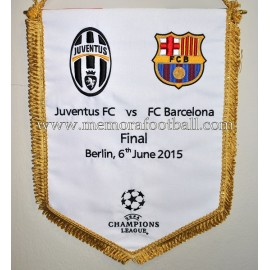 Juventus FC vs FC Barcelona 06-06-2015 UEFA Champions League Final official pennant