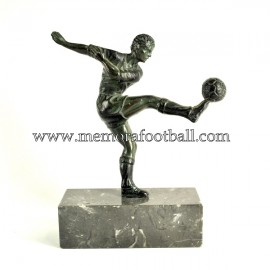 A spelter figure of a footballer c.1960 France