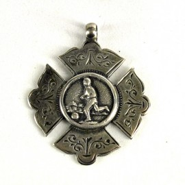 Football silver medal, late Victorian period (1890-1900)