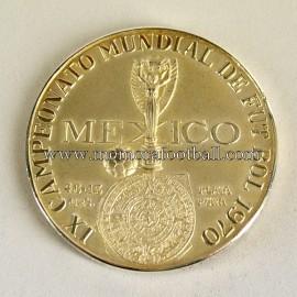 Medalla oficial de participación en el Campeonato Mundial de Fútbol México 1970