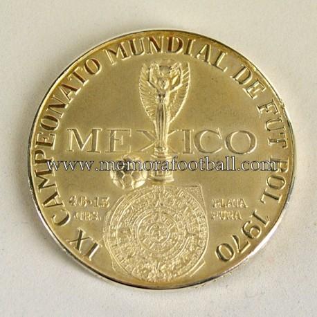 Medalla de plata oficial del Campeonato Mundial de Fútbol México 1970