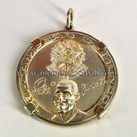 1970 FIFA World Cup Mexico official silver medal. Tribute to Pelé