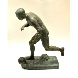 H. Fugère (French) A running footballer spelter, c.1900