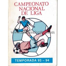 Calendario Campeonato de Liga 1ª, 2ª Y 3ª Division 1993-1994