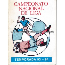 Spanish League 1ª, 2ª y 3ª Division 1993-1994 football calendar