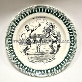 "Plato de cerámica ""LE FOOTBALL"" Francia 1930s"