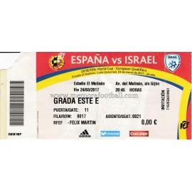 España vs Israel (24-03-2017) clasificación Copa del Mundo 2018