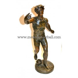 L. Guilllemin (French) A footballer spelter, c.1900