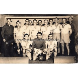 Photograph of a Luftwaffe Prisoners of War football team in Colorado, circa 1943