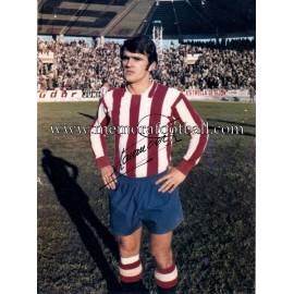Fotografía autografiada de Lavandera (Sporting de Gijón) 1970-71