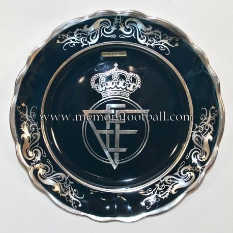Plato de cerámica de la Real Federación Española de Fútbol, 1970s