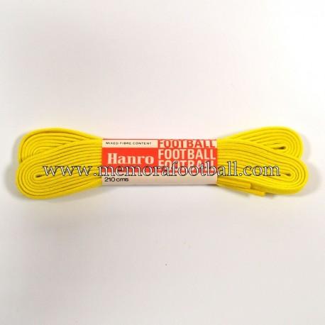 Cordones antiguos para botas de fútbol, marca Hanro