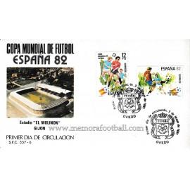 """Sobre Oficial Mundial 82 Estadio """"El Molinón"""" Gijón"""