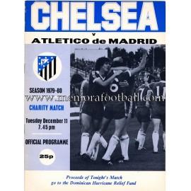 Programa del partido Chelsea v Atlético de Madrid 11-12-1979