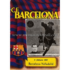 CF Barcelona vs Valladolid 04-02-1951 Official programme