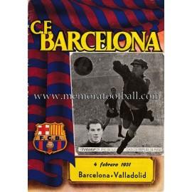 Programa CF Barcelona vs Valladolid 04-02-1951