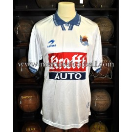 """JAUREGI"" Real Sociedad vs Real Oviedo 20-05-2000 match worn shirt"