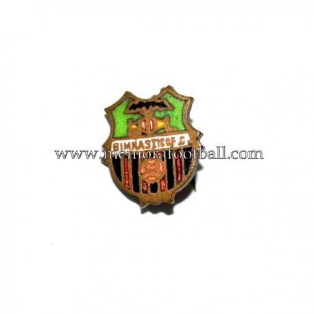Antigua insignia esmaltada del Gimnastic FC (España) 1920-30