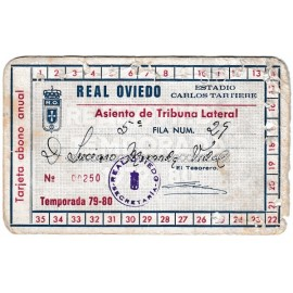 Real Oviedo Annual Membership Card, season 1979-80