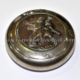 Old Tobacco-snuff tin with football motif