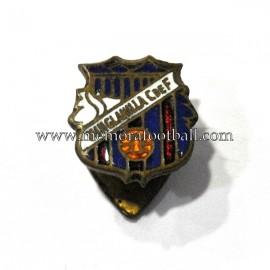 Antigua insignia esmaltada al fuego del Minglanilla CF (España)
