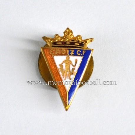 Antigua insignia esmaltada del Cádiz CF (España)
