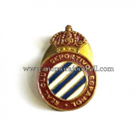 Antigua insignia esmaltada del RCD Español (España) 1950s
