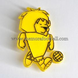 Insignia de Willie mascota del Campeonato Mundial de Fútbol Inglaterra 1966