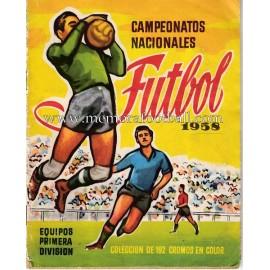 """Album de cromos """"Campeonatos Nacionales Futbol"""" 1958"""