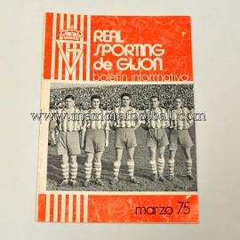 Boletín Informativo Real Sporting de Gijón vs Hércules, marzo 1975