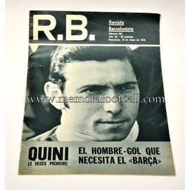 "Revista Barcelonista 18-05-1976 ""QUINI"""
