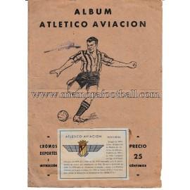 """""""ATLÉTICO AVIACIÓN"""" 1940s football card album"""