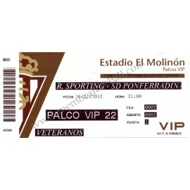Sporting de Gijón v SD Ponferradina LFP 16/11/2012 ticket