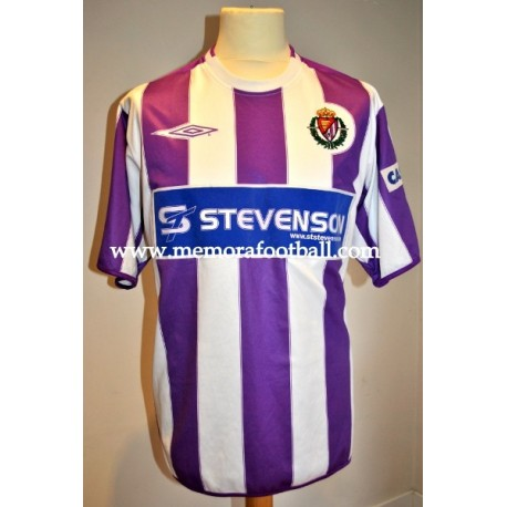 """TOTE"" Real Valladolid nº20 LFP 2004/2005 home match worn shirt"