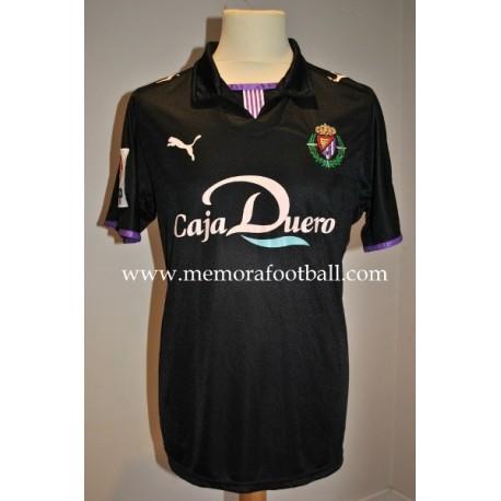 """CANOBBIO"" Real Valladolid nº20 LFP 2008/2009 away match worn shirt vs Atlético de Madrid"