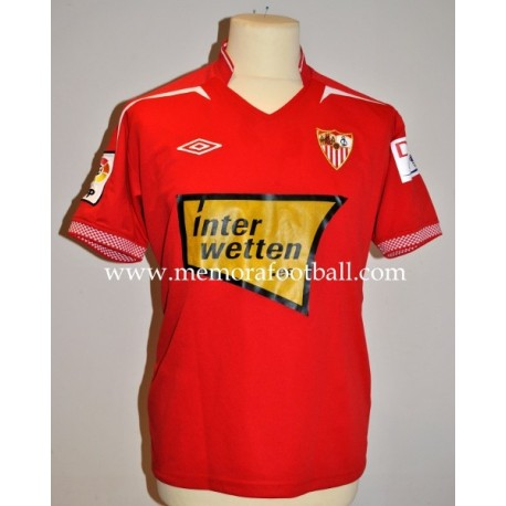 """F. NAVARRO"" nº3 Sevilla CF. LFP 2012/2013 away match worn shirt"