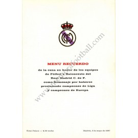 Real Madrid CF - Dinner tribute 03-05-1967
