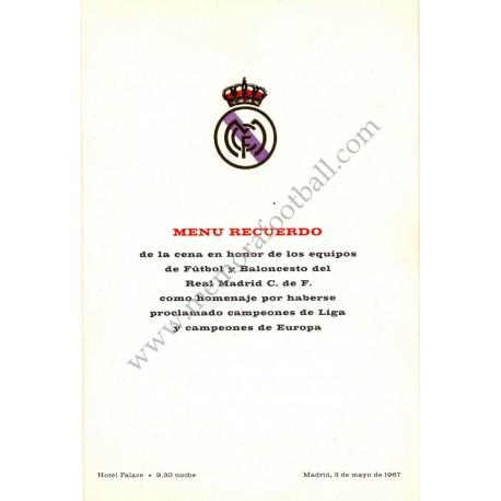 Real Madrid CF - Dinner tribute 03-05-1967