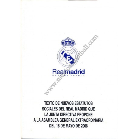 Real Madrid CF Statutes 2008
